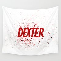 dexter Wall Tapestries featuring Dexter#01 by Pedro A Ribeiro