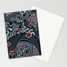 waves of tradition-blue Stationery Cards