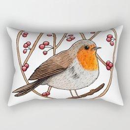 Christmas winter robin Rectangular Pillow