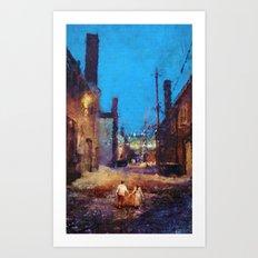 Lovers of the night Art Print