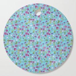 Flowers, Clovers & Diamonds Cutting Board