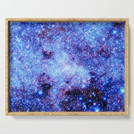 GAlaxy Periwinkle Stars Serving Tray