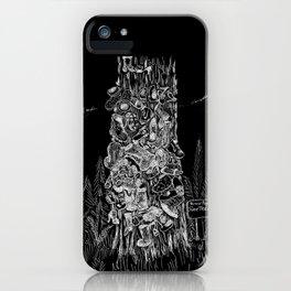 Prince Rupert's Shoe Tree - White on Black iPhone Case