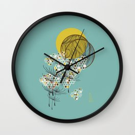 Seasons Time Space Wall Clock