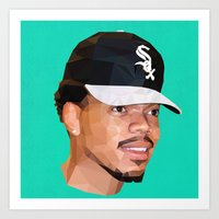 chance the rapper Art Prints featuring Chance by Joshua Burkett Designs