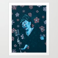 fitzgerald Art Prints featuring Ella Fitzgerald by Jason Raish