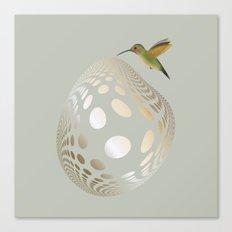 Hummingbird and Bubble Canvas Print