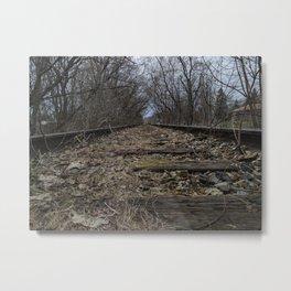 Train-tracks Metal Print