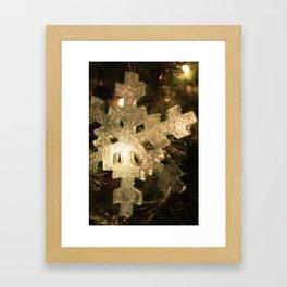 Sparkling Snowflake Framed Art Print