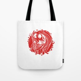 Screaming Gothic Female Hollow Skull Tote Bag