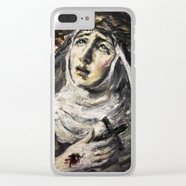 St. Catherine of Siena Clear iPhone Case