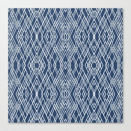 Art Deco Navy Canvas Print