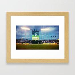 Kauffman Stadium in Kansas City, MO Framed Art Print