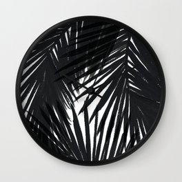 Palms Black Wall Clock