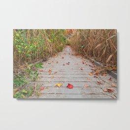 Autumn Marsh Boardwalk Metal Print