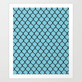 Chain Link Blue Art Print