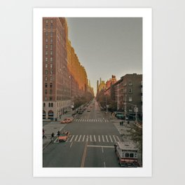 The Yellow Muted City (Color) Art Print