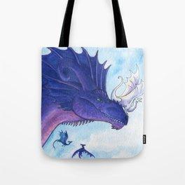 Purple Dragon Mother Tote Bag