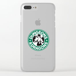 Dungeons & Dragons Starbucks Parody Clear iPhone Case