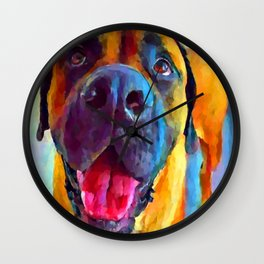 English Mastiff Wall Clock