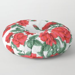 The Red Roses #Spring #Flowers Floor Pillow