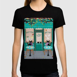 Paris Cafe for Cats T-shirt