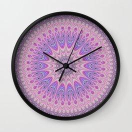 Beautiful detailed Mandala pink purple #mandala Wall Clock