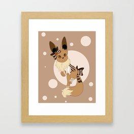 Little Steampunk Fox Framed Art Print