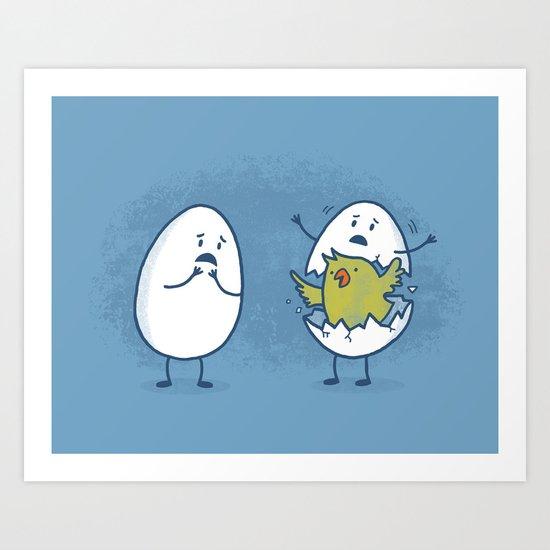 EGGsplosion! Art Print
