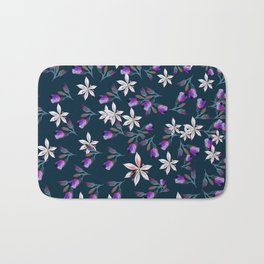 Beautiful pattern design with flowers in vintage style Bath Mat
