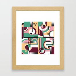 Bauhaus/ Deco 2 Framed Art Print