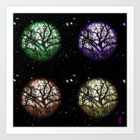 Tree Planets Art Print