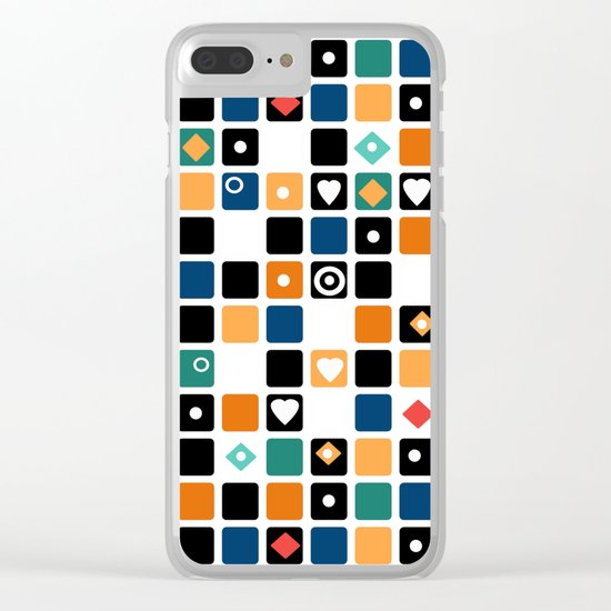 Colorful cubes . Clear iPhone Case