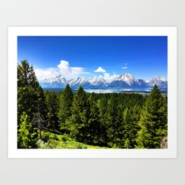 The Tetons from Signal Mountain Art Print