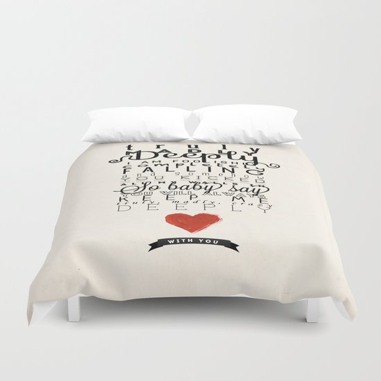 One Direction: Truly Madly Deeply Duvet Cover