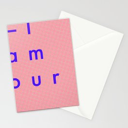 l'Amour | Love | Liebe  Stationery Cards