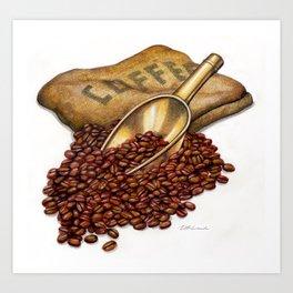 Coffee Art Print