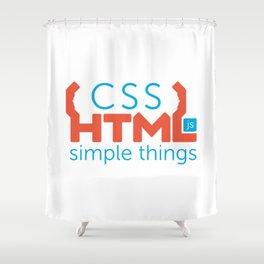 HTML/CSS/JS Shower Curtain