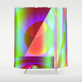 Abstract projection Shower Curtain