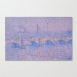 "Claude Monet ""Waterloo Bridge, Effect of Sun"" Canvas Print"