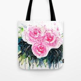Burst Roses Tote Bag