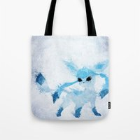 ice Tote Bags featuring Ice by Melissa Smith