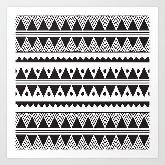 African Tribal Pattern No. 2 Art Print