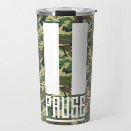 PAUSE – Camo Travel Mug