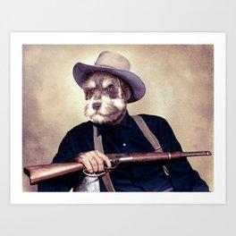 Wayne Dog Art Print