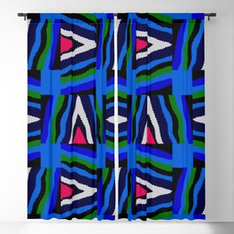 Bold Colorful Stripes Blackout Curtain