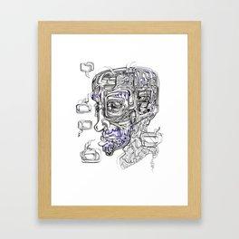 Thoughtless Speech Framed Art Print