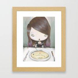 I HATE YOU DUDE! Framed Art Print