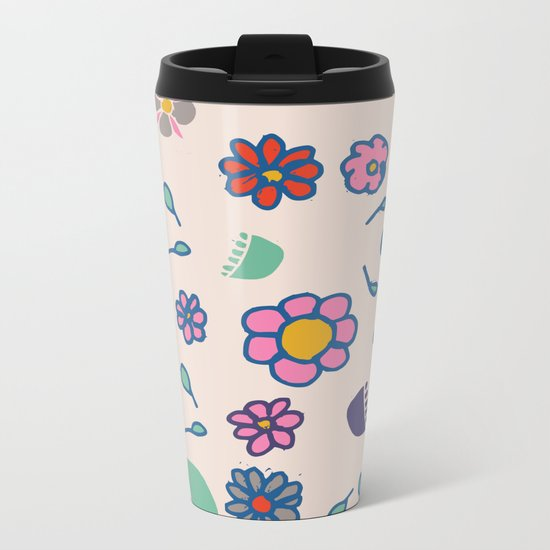 Floral spring Metal Travel Mug