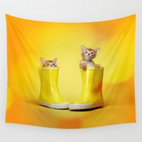 kittens Wall Tapestries featuring KITTENS by I Love Decor